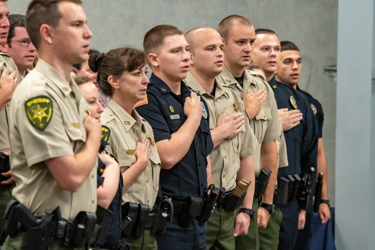 Graduation of Acadiana Law Enforcement Training Academy Class 159. Friday, April 12, 2019.