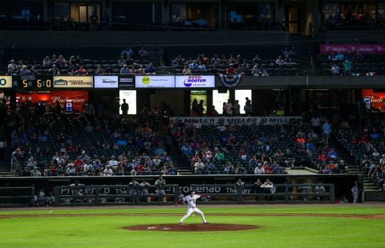 It was a warm, spring night for the 20th anniversary of Slugger Field as the Louisville Bats took on the Gwinnett Stripers Thursday night at Slugger Field. April 11, 2019