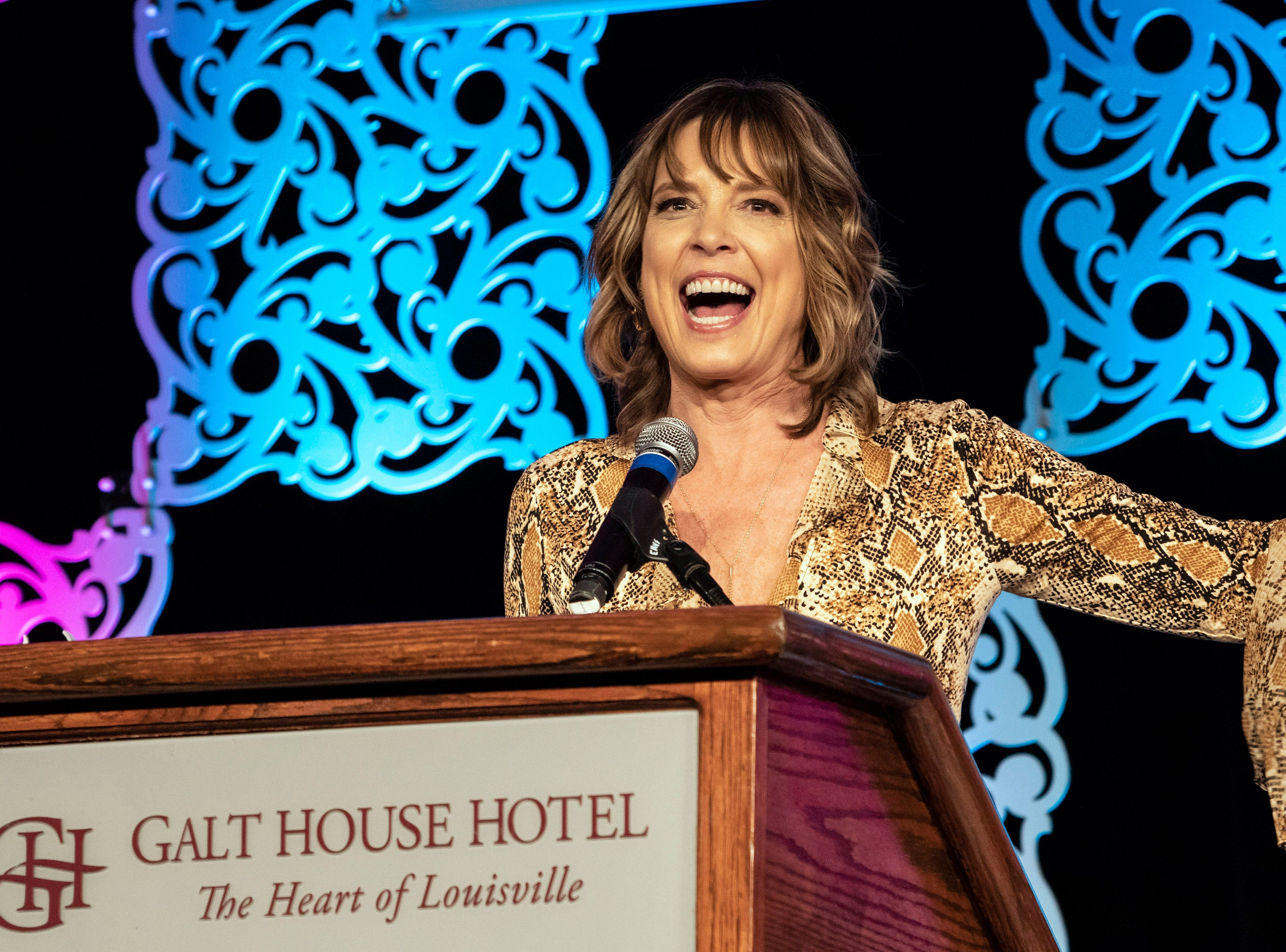 ESPN's Hannah Storm was the guest speaker at the annual KDF They're Off! Luncheon on Friday afternoon. 4/12/19