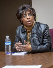Katrina Maddox, a HUD-certified Home Equity Conversion Mortgage counselor, explains that reverse mortgage loans are not for everyone, Tuesday, April 9, 2019, at the Center for Financial Health, Lansing, MI.