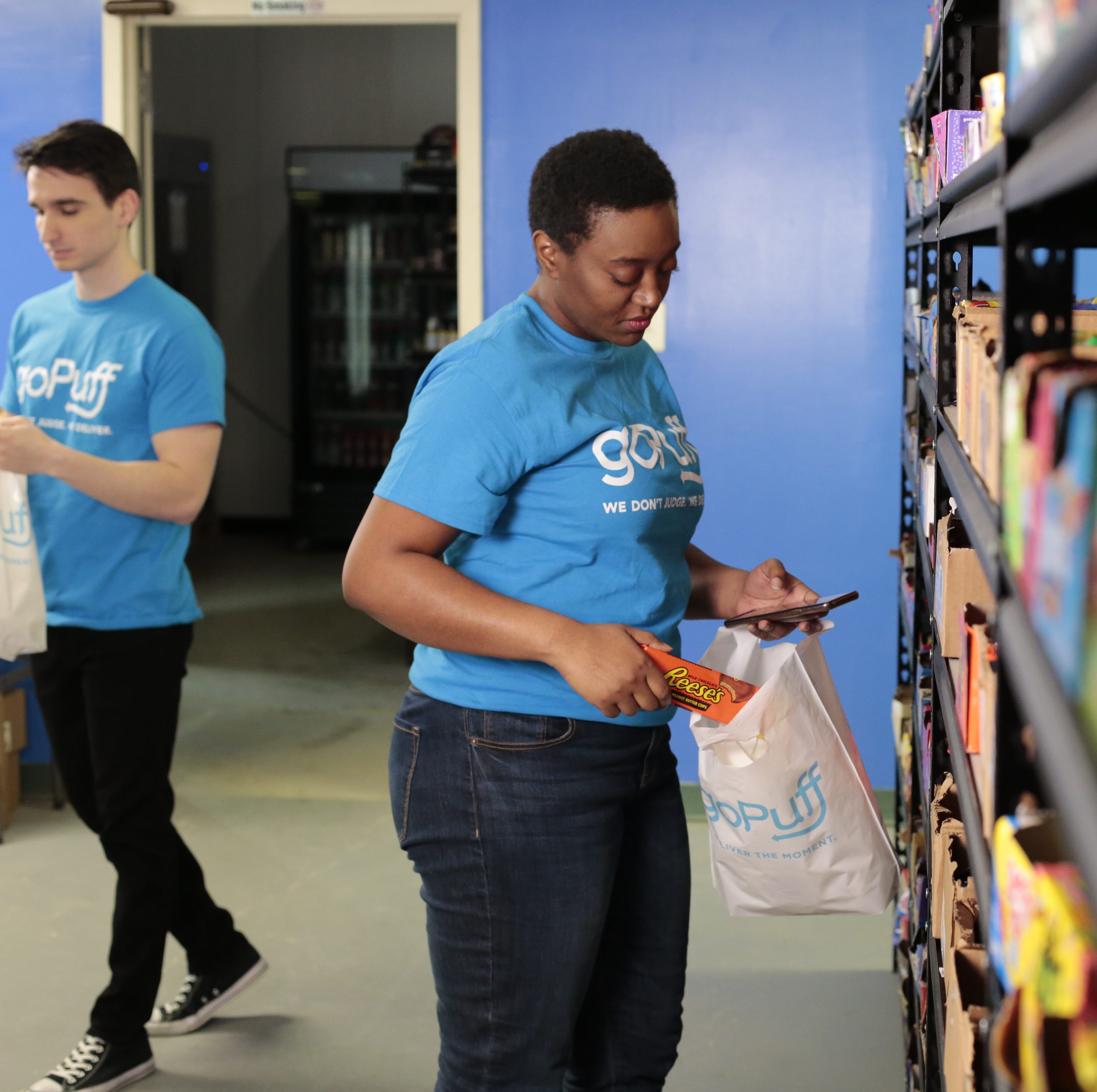 GoPuff delivers snacks to your door. The service launches in the Lansing area today.
