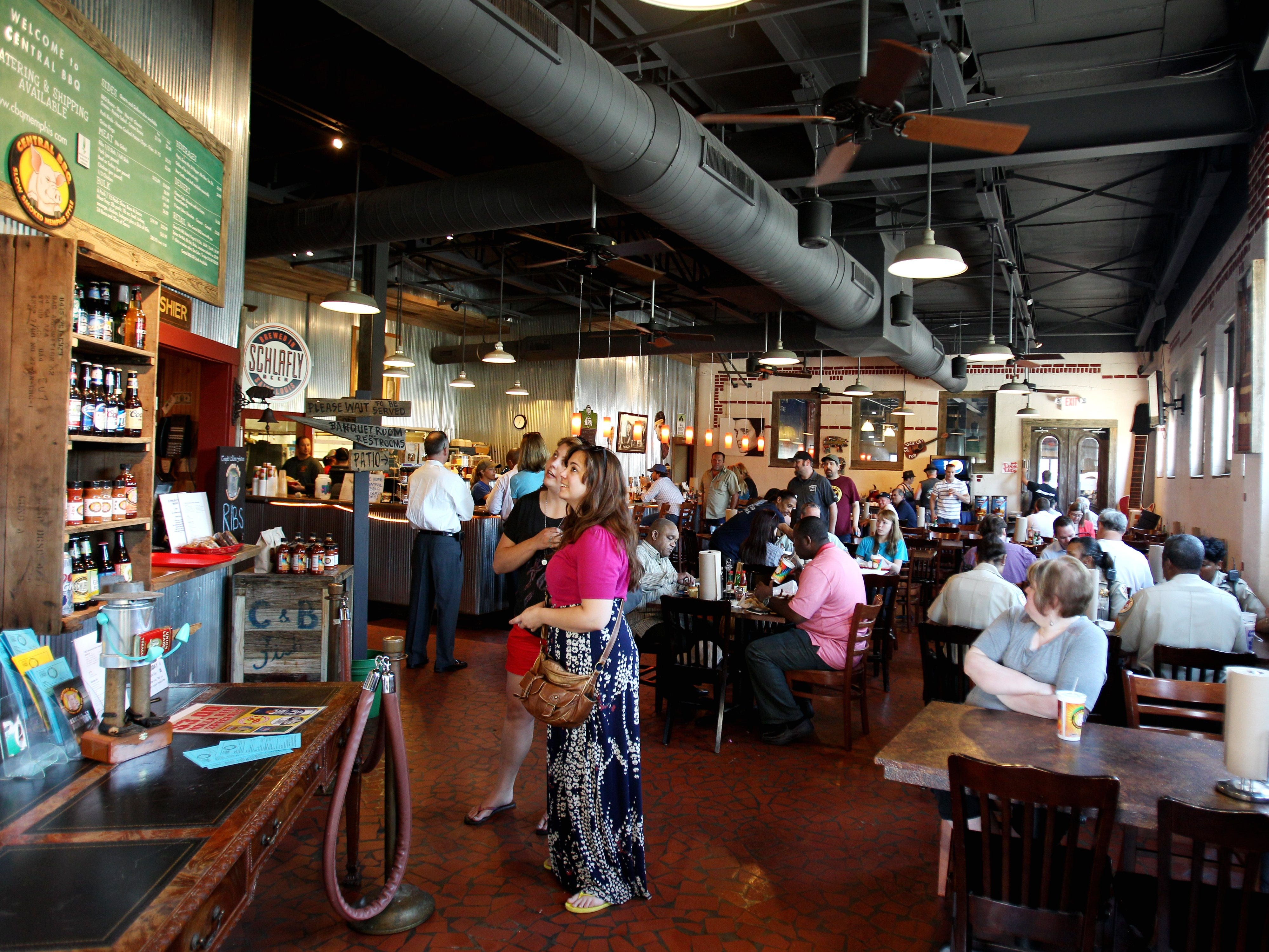 Central BBQ downtown on Butler behind the National Civil Rights Museum has a large main dining room and two other large rooms that can be used for private events on May 14, 2013.