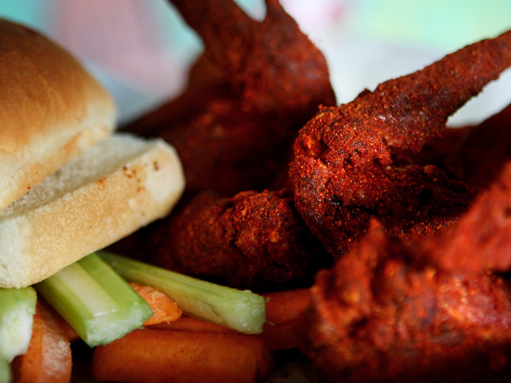 The dry spice wings at Central BBQ are classic Memphis take on the traditional spicy hot wings on May 11, 2014.