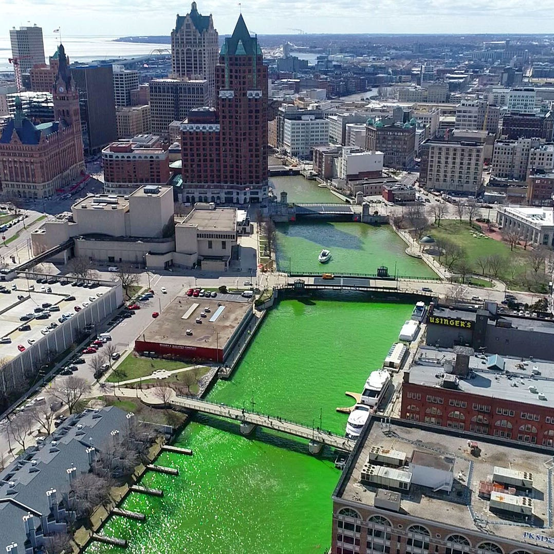 The Milwaukee River is green now. Here's what else is happening to celebrate the Bucks.