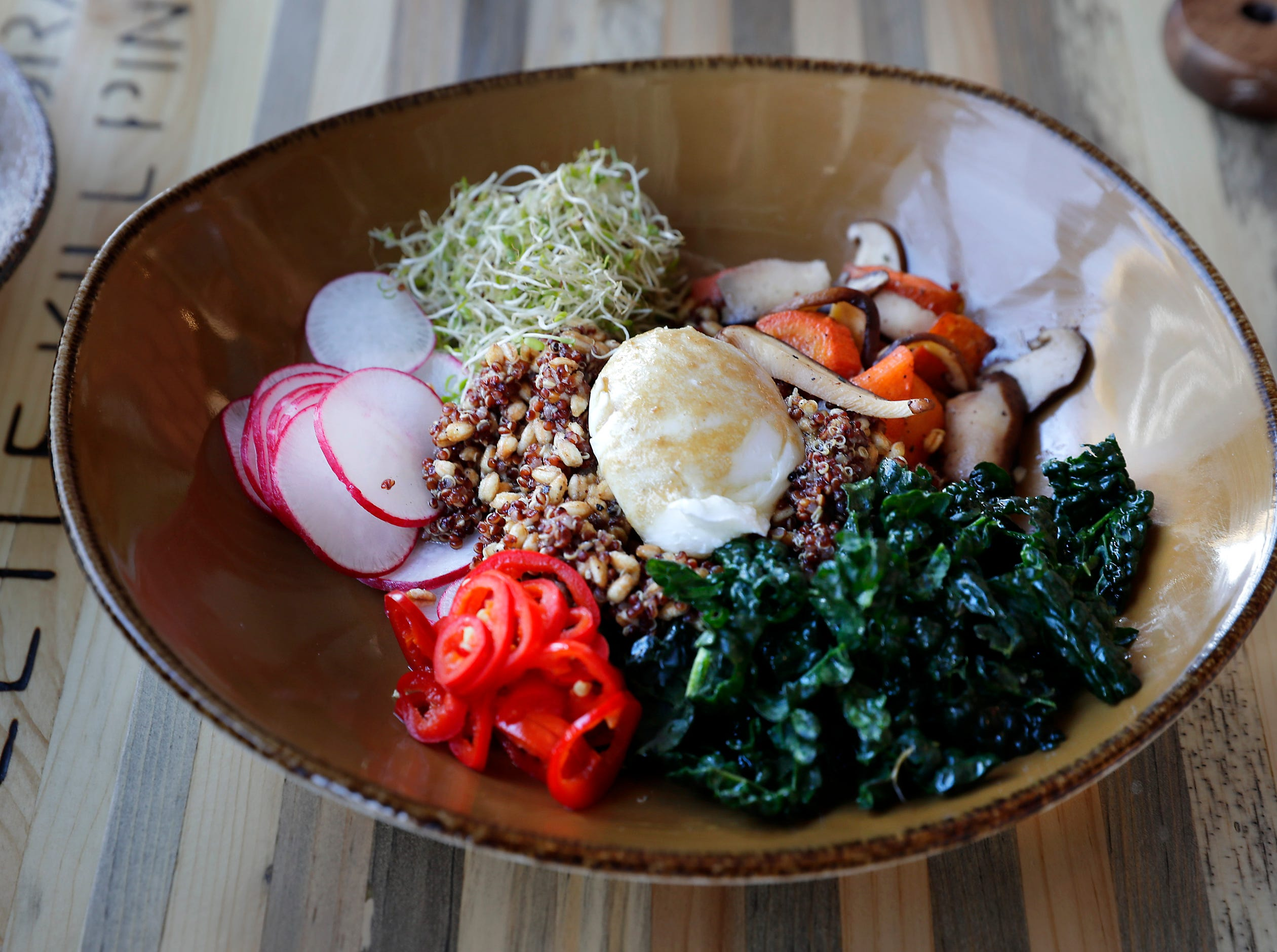 A Superfood grain bowl is on the menu at during Punch Bowl Social.