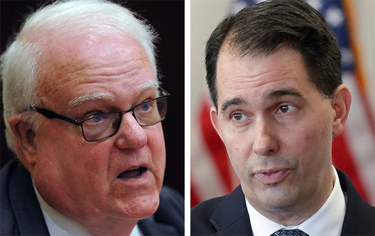 U.S. Rep. Jim Sensenbrenner (left) and former Gov. Scott Walker (right)