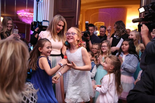 Ashlin Sanders, a 7-year-old from Oconomowoc, made a music video with Make-A-Wish Wisconsin in hopes of it going viral. It premiered at the Wish Nigh gala at the Pfister Hotel in Milwaukee April 11.