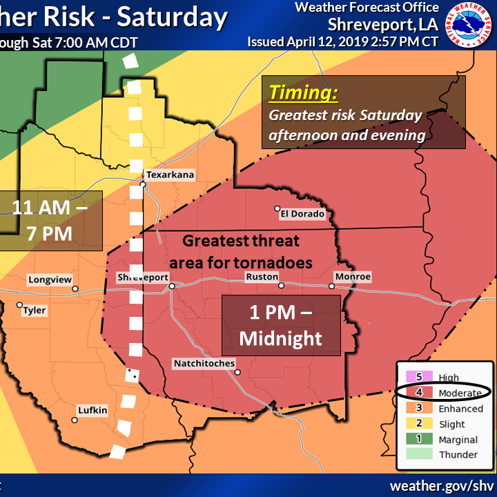Severe storms, possible tornadoes predicted for Saturday