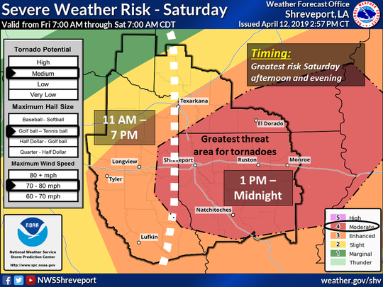 Severe Weather Risk on Saturday