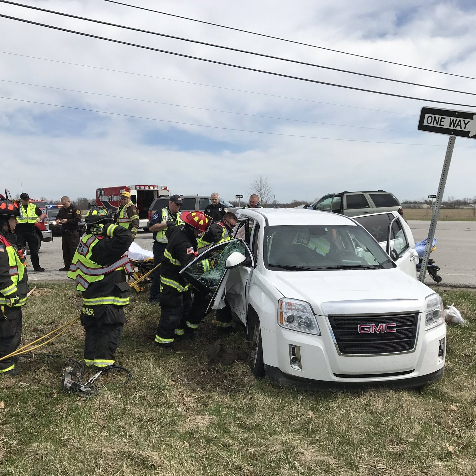 Crash at Ind. 332, Delaware County Road 600-W sends two to hospital
