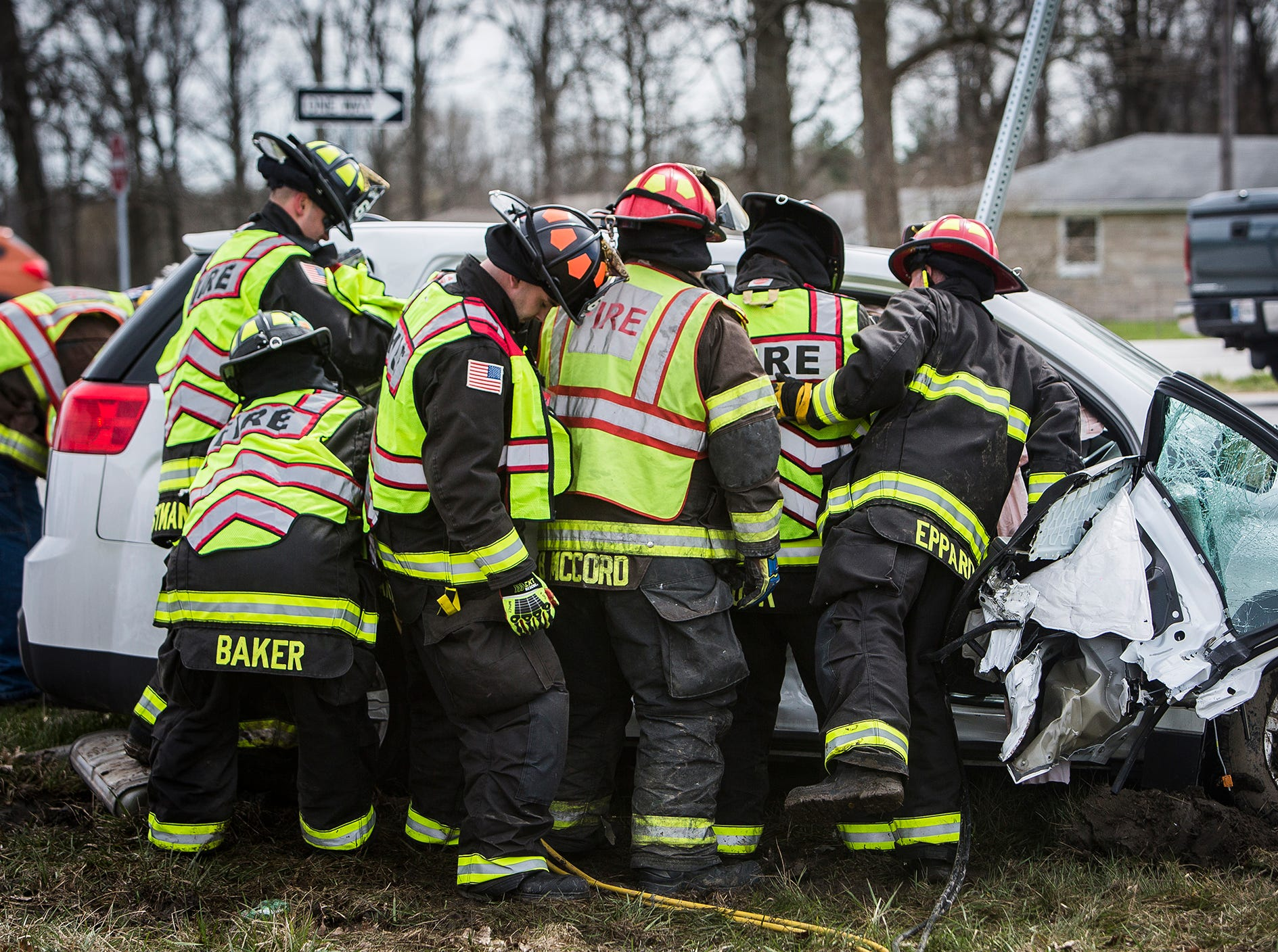 Two people were transported to IU Health Ball Memorial Hospital with non-life threatening injuries following a rollover wreck with entrapment at the intersection of County Road 600 W and IN-332 at around 3 p.m. Friday. According to police the SUV, occupied by three people, was turning left onto CR 600 W. when it was t-boned. Firefighters used the jaws of life to extricate two injured passengers.