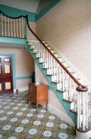 The staircase inside the Carter House in Franklin on Thursday, April 12, 2019.