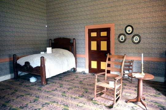 A bedroom inside the Civil War period Carter House on Thursday, April 12, 2019.