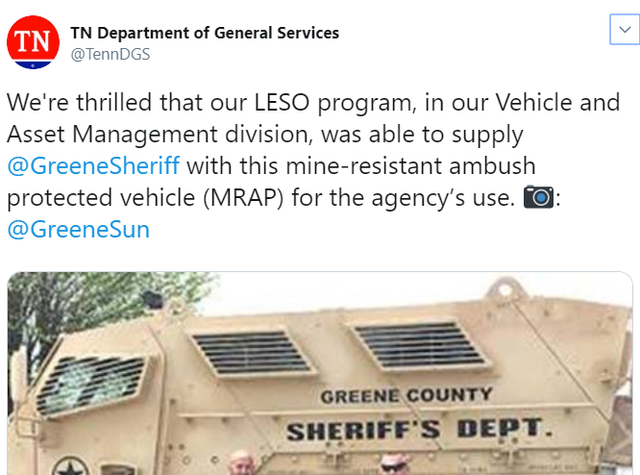 Greene County Sheriffs Office Recently Acquired — VACA