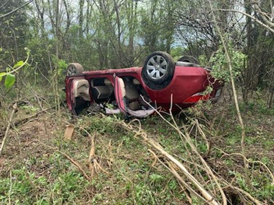 A pursuit on I-24 led to the crash of the suspect vehicle and an arrest Friday. The driver lost control and flipped his car as officers were in pursuit near the Robertson and Cheatham County line.