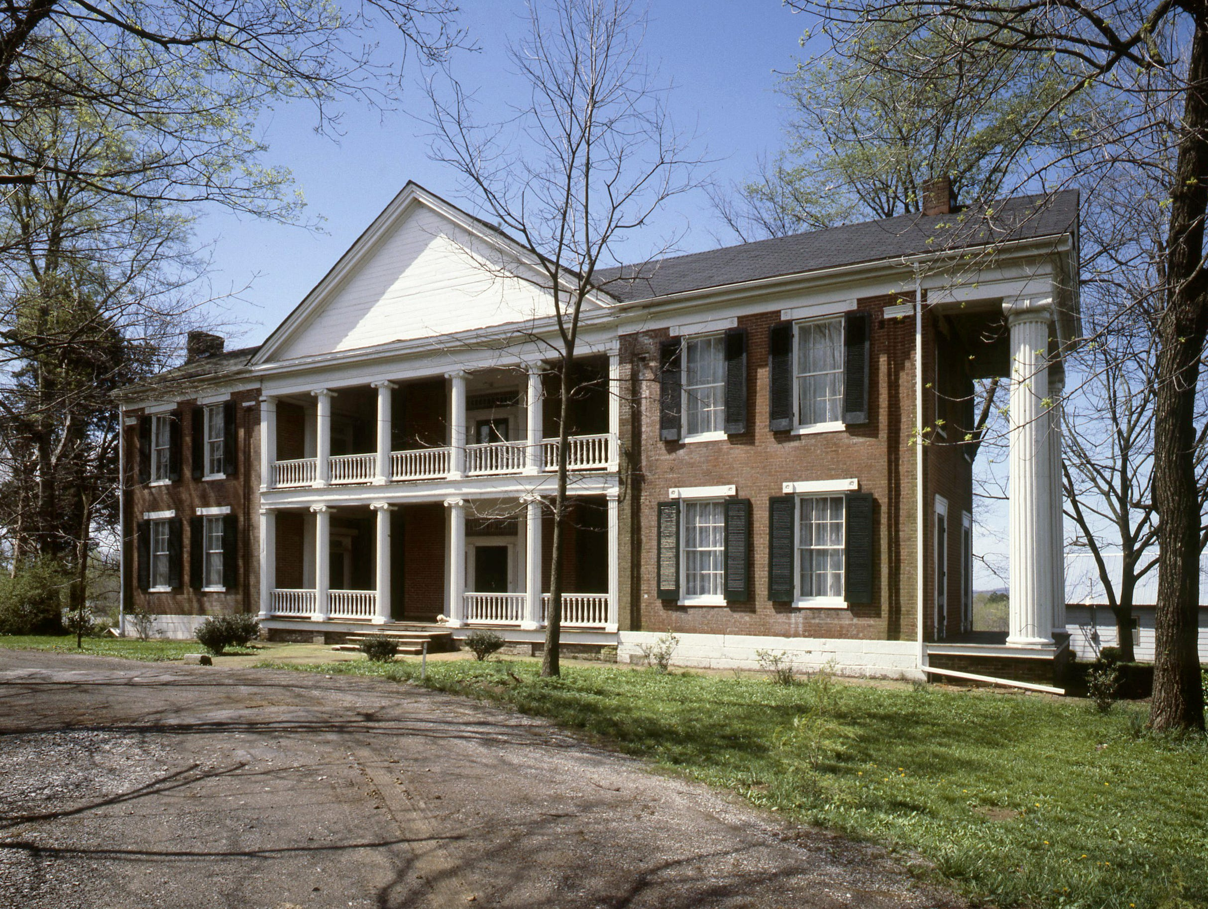 """The """"Rosemont,"""" completed in 1842 and pictured here on April 12, 1979, in Gallatin, was built by Judge Jo Conn Guild, who entertained three presidents there - James K. Polk, Martin Van Buren and Andrew Jackson. The home was inspired by the Creole architecture Guild admired in New Orleans."""