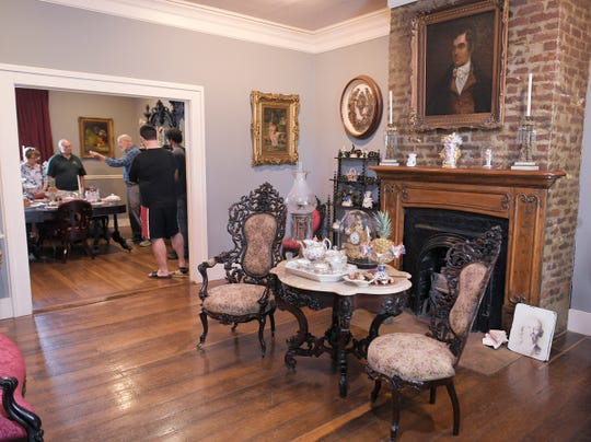 A tour Inside the historic Lotz House is given by Thomas Cartwright  in Franklin on Thursday, April 12, 2019.