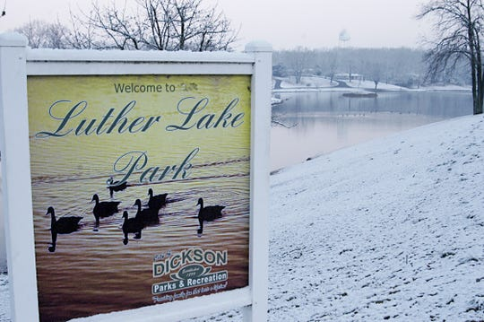Luther Lake Park in Dickson in January of 2015.