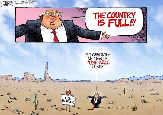 trump says u.s. is full