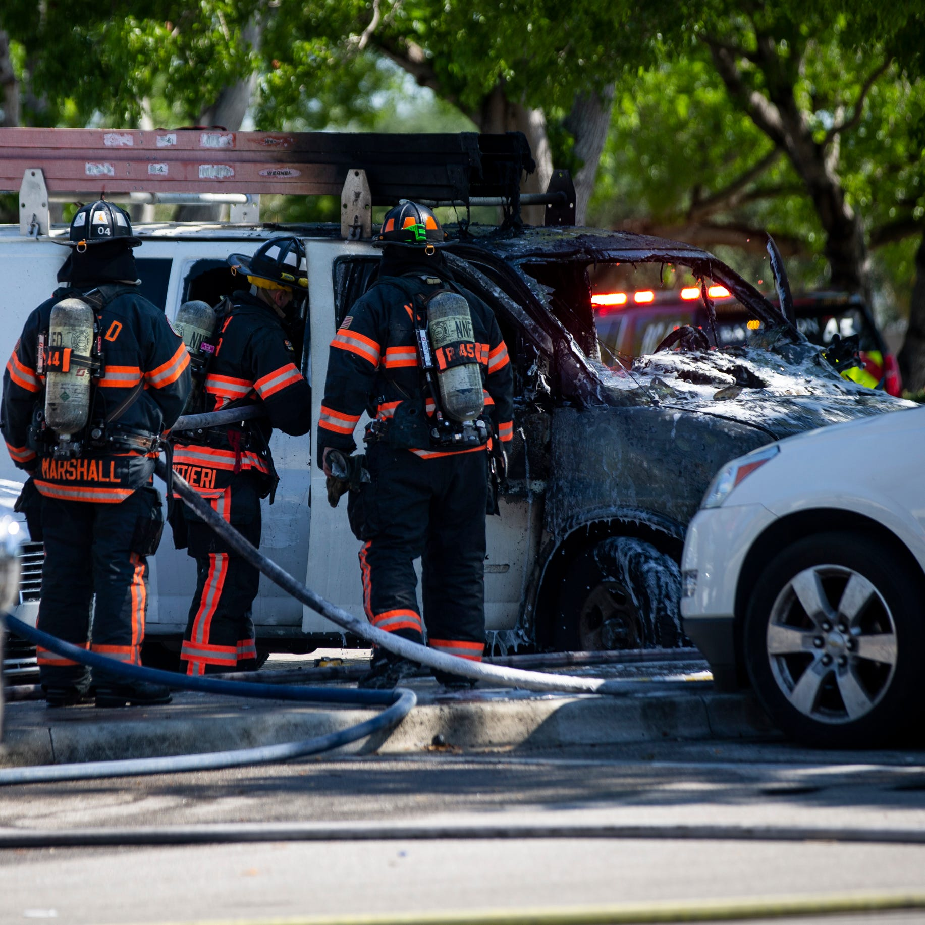 North Collier Fire responds to vehicle fire in Walmart parking lot