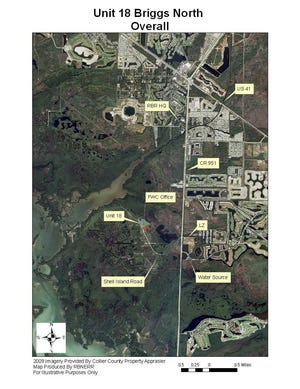 The burn will cover 54 acres along Shell Island Road, which is located south of U.S. 41 East and west of Collier Boulevard. It will be taking place in Unit 18 on the north side of the Florida Fish and Wildlife Conservation Commission Law Enforcement building and Briggs Boardwalk.