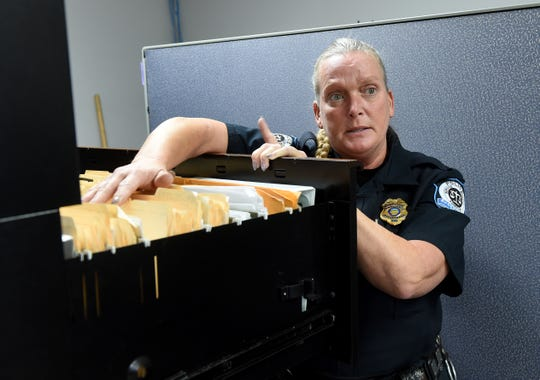 Buckeye Lake Police Chief Vicki Wardlow talks about the work she and other officers put in organizing old files and building a new filing system for the department. The Village is seeking a new five-year five-mills levy to fund the village's police department. The levy will be on the ballot this May and, if passed, the earliest Buckeye Lake can begin receiving funds from that is in 2020.