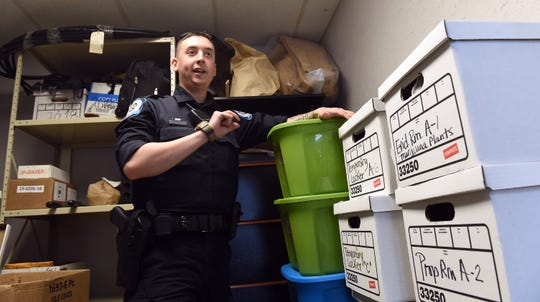 Buckeye Lake Police patrolman Jeremy Jackson has taken on helping clean, organize, and properly document evidence in the department's evidence lock up along with patrol duties. Police chief Vicki Wardlow and her officers have been working to inventory every item, but find most items provide minimal information as to what report they should be associated with. The Village is seeking a new five-year five-mills levy to fund the village's police department. The levy will be on the ballot this May and, if passed, the earliest Buckeye Lake can begin receiving funds from that is in 2020.