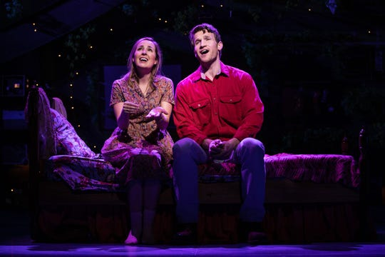 """Benny & Joon"" at Paper Mill Playhouse; Hannah Elless (Joon) and Claybourne Elder (Benny)"