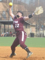 Becton sophomore pitcher Carly Polmann allowed only a pair of hits by North Arlington as the Lady Wildcats' hurler fired a shutout April 8 at McKenzie Field in East Rutherford.