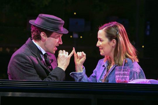 """""""Benny & Joon"""" at Paper Mill Playhouse; Bryce Pinkham (Sam) and Hannah Elless (Joon)"""