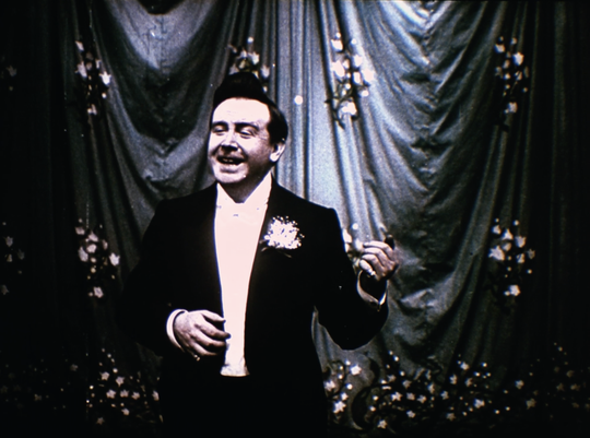 """""""Indiscreet Questions,"""" an early 1905 sound film by Alice Guy-Blache, with tinted color."""