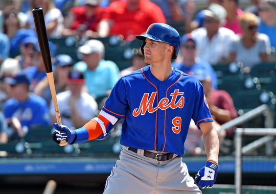 Outfielder Brandon Nimmo has been scuffling at the plate so the Mets moved him out of the leadoff spot Friday and put him in the eighth spot.