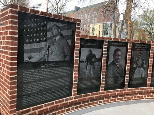 The Paul Robeson Plaza at Rutgers University-New Brunswick campus was unveiled on Friday, April 12, 2019.
