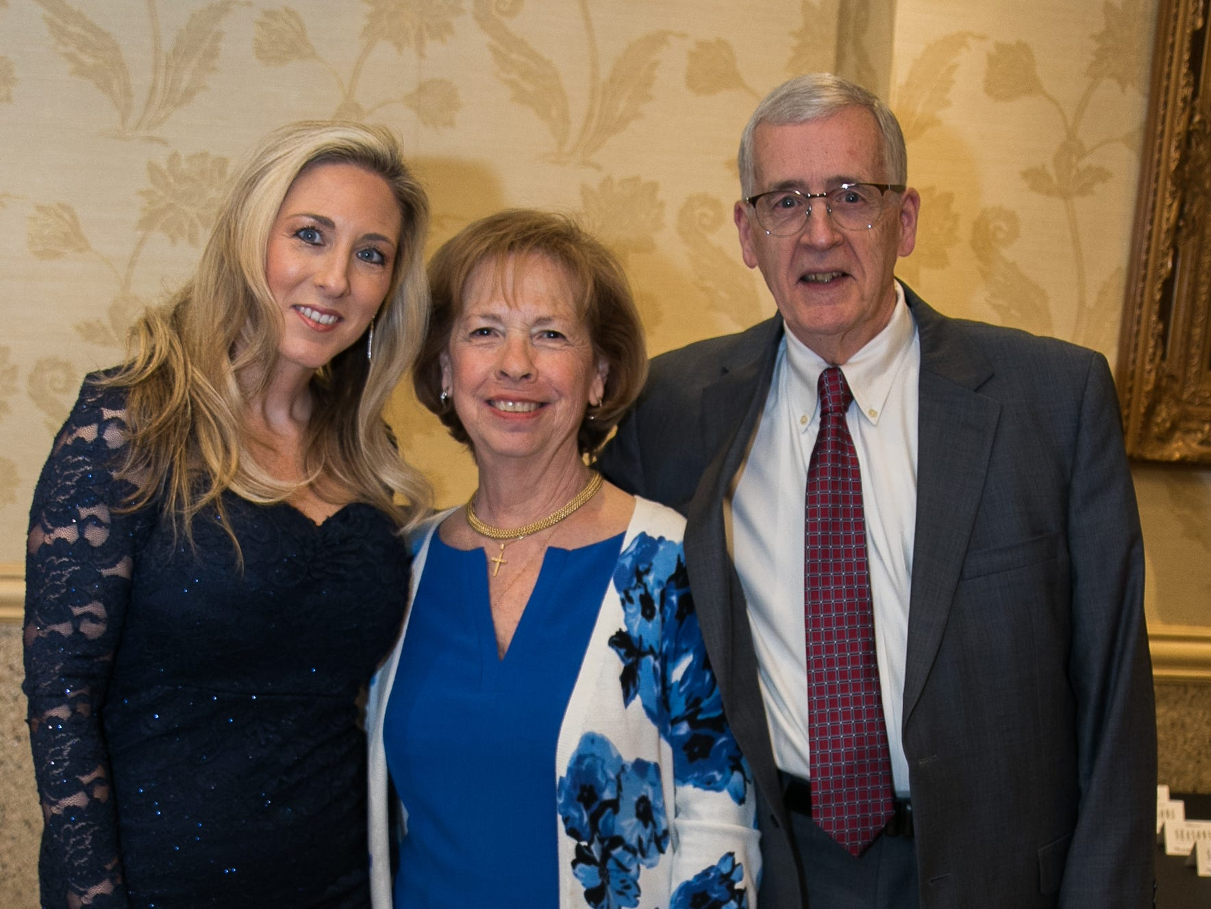 Kristy Fall, Marilyn Laquidara, Tim Dougherty. New Hope, a Pregnancy Resource Center, held their annual gala at Seasons in Washington Township. 04/05/2019