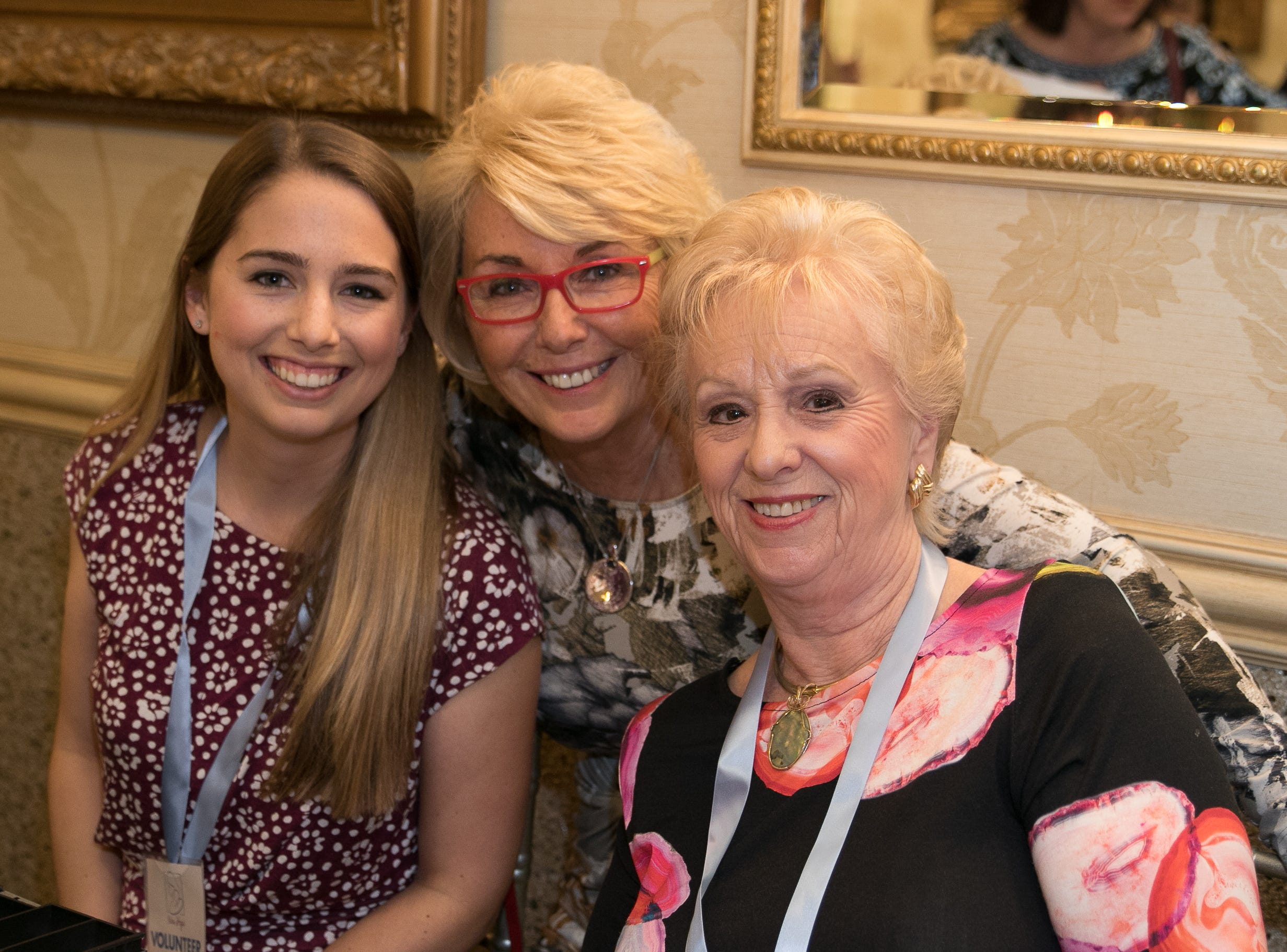 Jessica Turlick Vincentz, Kathy Turlick, Ellie Longwell.  New Hope, a Pregnancy Resource Center, held their annual gala at Seasons in Washington Township. 04/05/2019