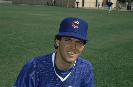 Scott Sanderson  of the Chicago Cubs shown Feb. 28, 1984.