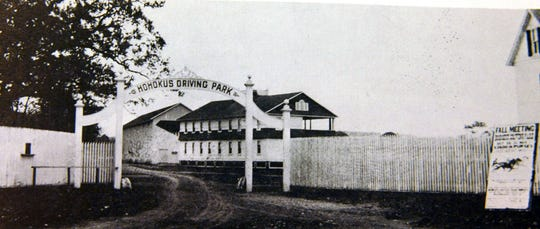 The former Ho-Ho-Kus Racetrack was known for both car and horse racing in the early 1900s.