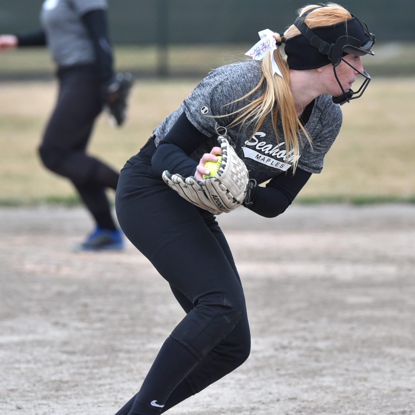 Birmingham Seaholm softball sweeps Marian with mercy, walk-off