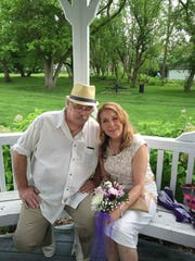 Norm and Michelle Reece on their wedding day in 2014. On Tuesday, April 16, 2019, the pair will be in Las Vegas for a honeymoon they never had and Norm will compete in the Billion Dollar Challenge.