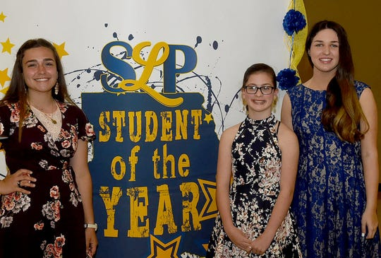 Bridget Melancon, HannahBeth Standridge and Olivia Wallace were announced Thursday night as St. Landry Parish Students of The Year during a ceremony held at the Opelousas Civic Center.