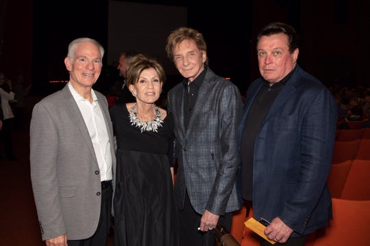 From left: Bart and Terri Ketover sponsored the reception, and Barry Manilow and Garry Kief underwrote show expenses.