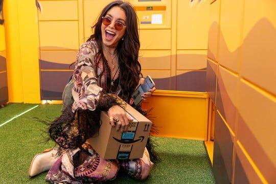 Vanessa Hudgens appears at the Amazon Lockers at Coachella 2019.