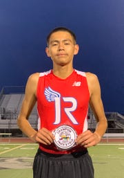 Aaron Perez set the DVL record in the 3200 meter run.