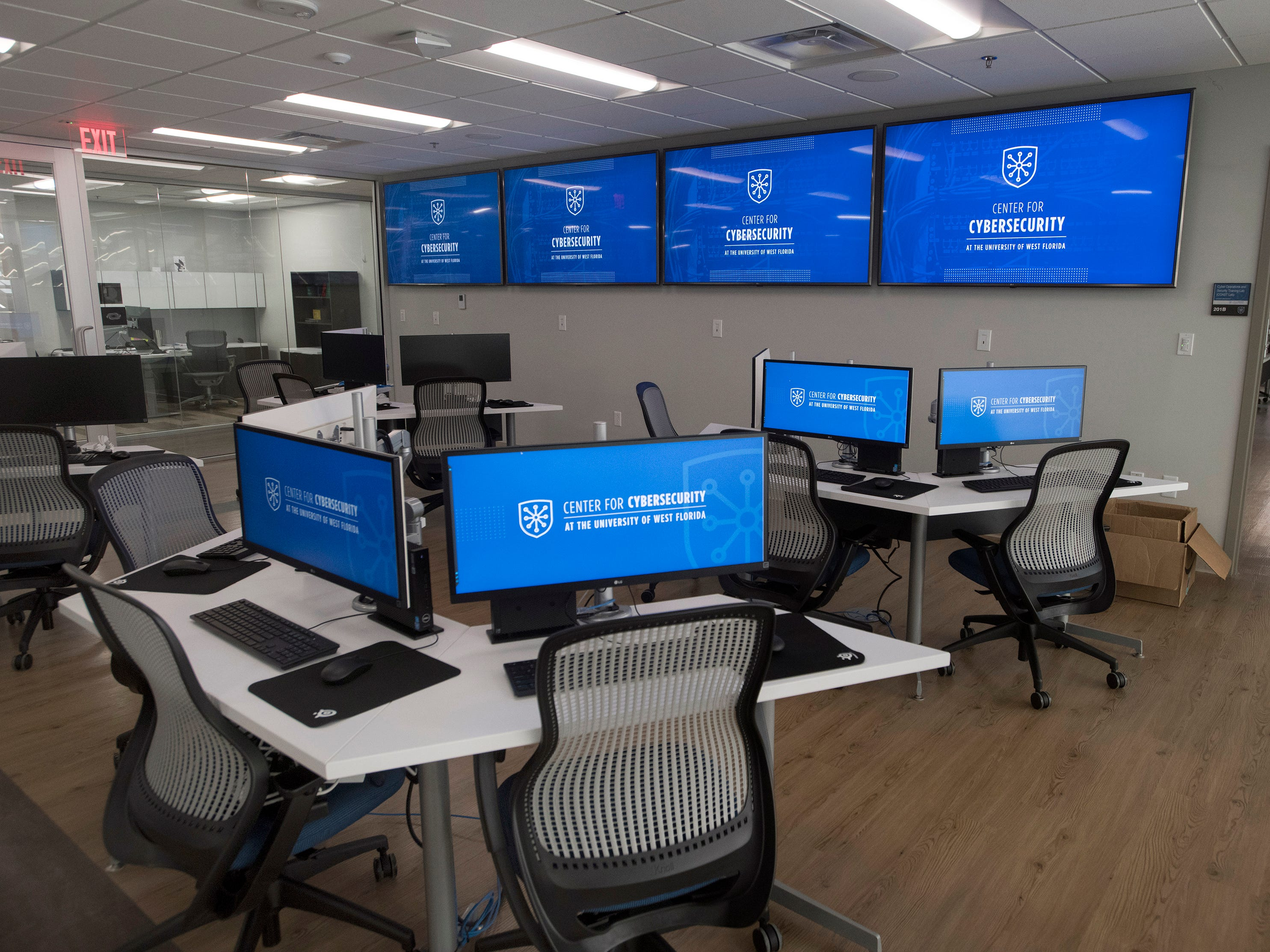 The University of West Florida unveils its new Center For Cybersecurity on Monday, April 15, 2019. Located in the Studer Community Institute building the new UWF location will increase the university's presence in downtown Pensacola.