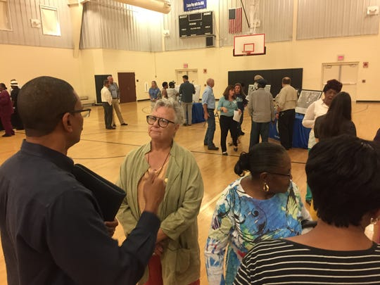 About 100 people attended the Florida Department of Environmental Protection's open house Thursday, April 12, 2019, at the Marie K. Young Community Center. The event was organized to answer questions and share information about the troubled Rolling Hills Construction and Demolition Facility.