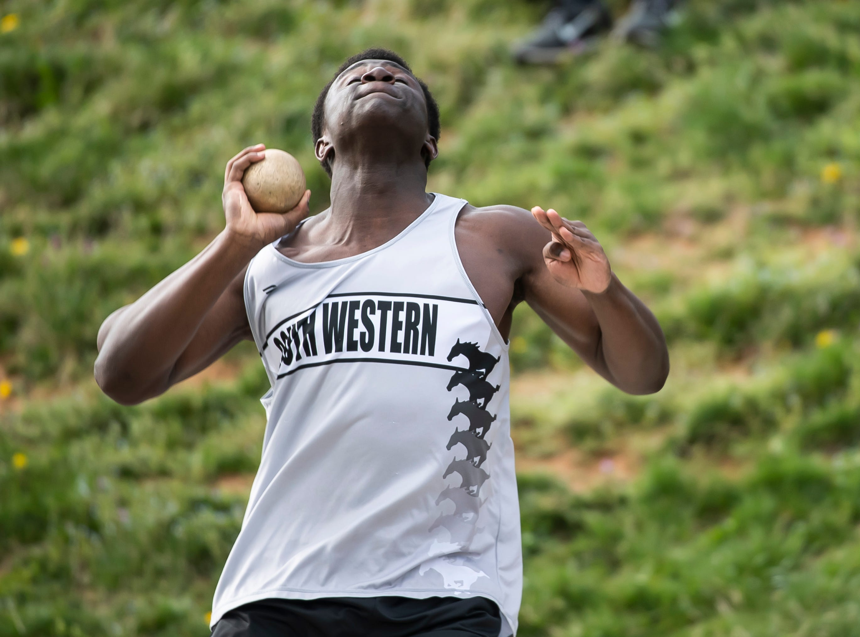 Spring Grove and South Western track and field teams compete on Thursday, April 11, 2019.