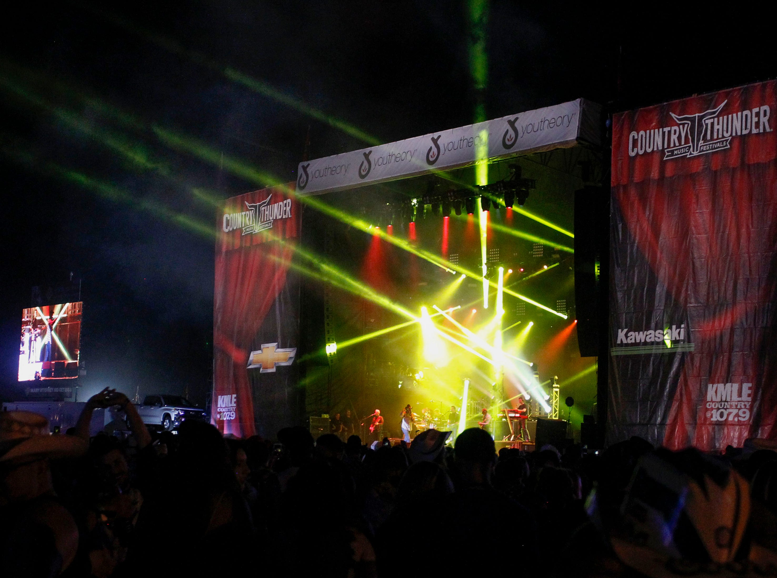 Trace Adkins entertains during Country Thunder Arizona on April 11, 2019, in Florence, Ariz.
