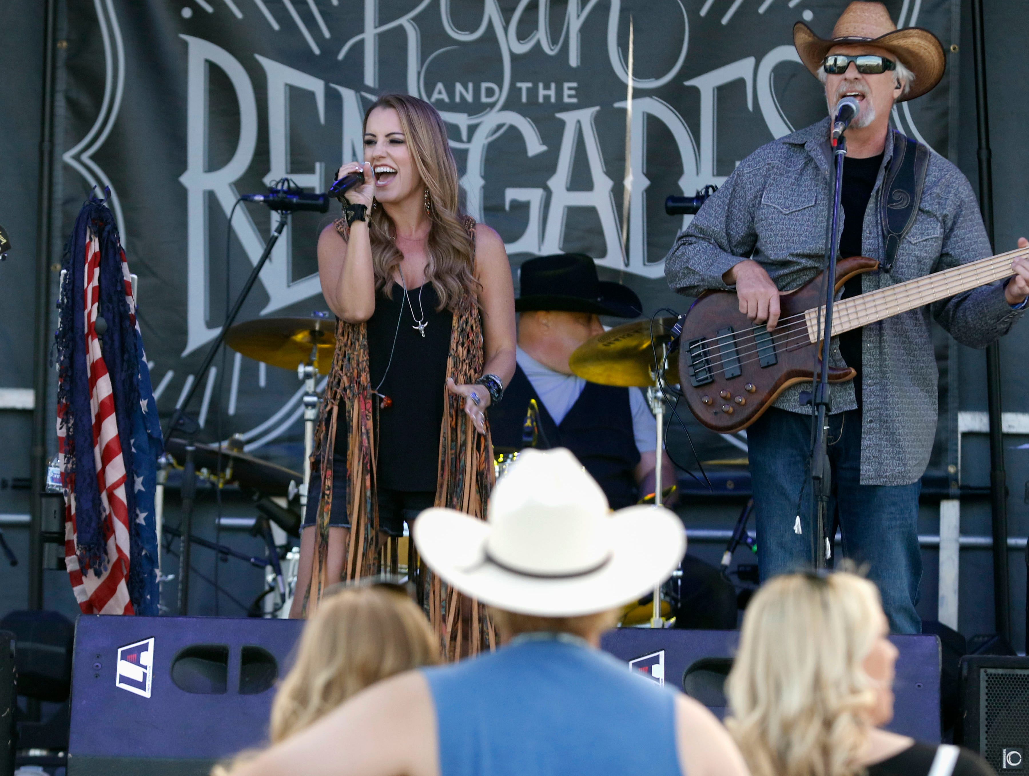 Ryan and the Renegades entertains during Country Thunder Arizona on April 11, 2019, in Florence, Arizona.