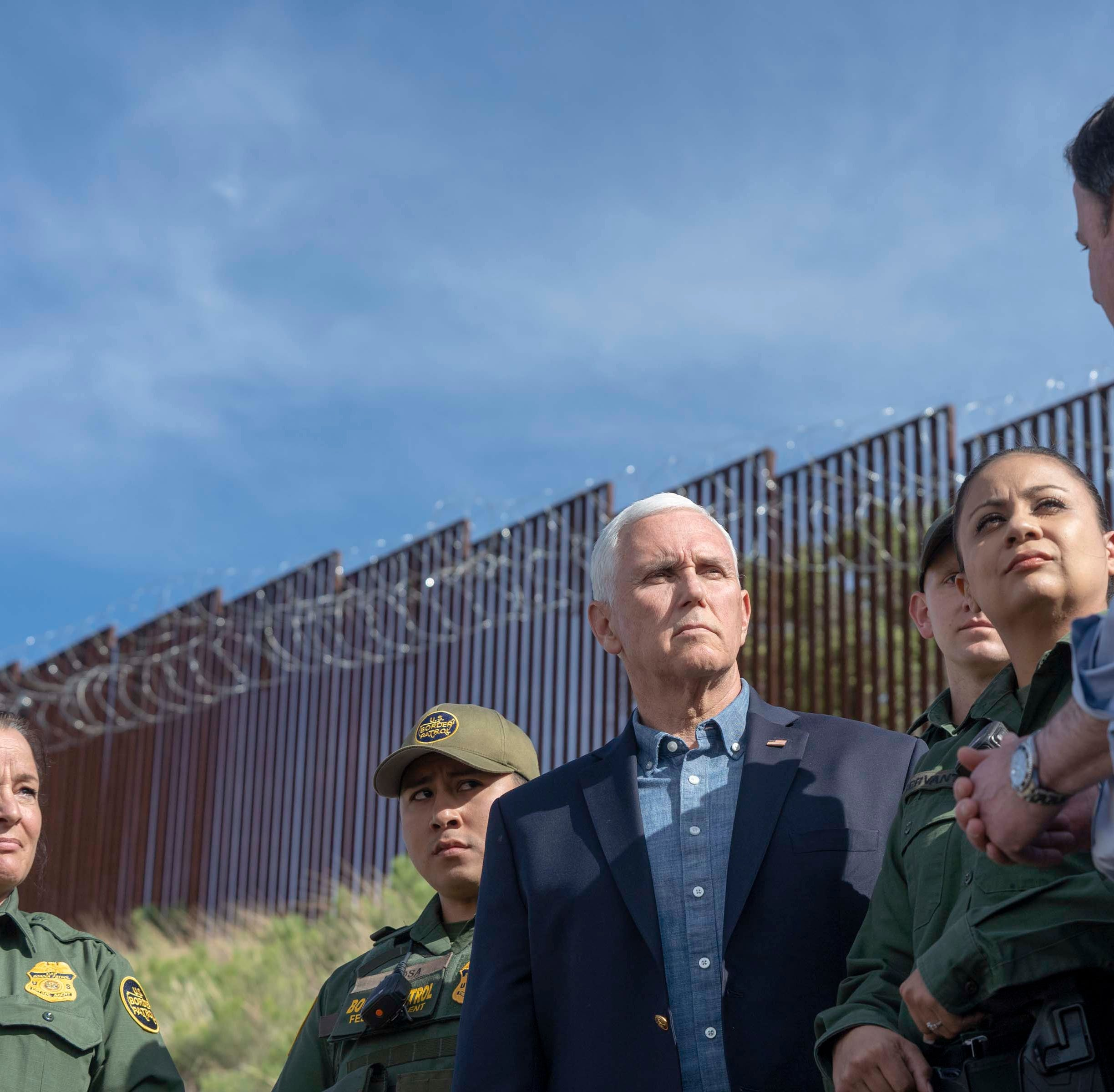 VP Mike Pence, Gov. Doug Ducey were guarded at the border from Democrats who live there