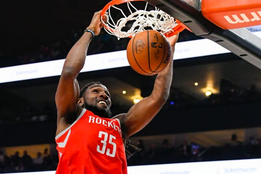 Kenneth Faried of the Houston Rockets.